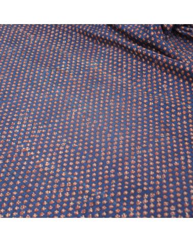 Corte tela estampado manual motas
