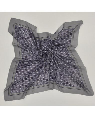 Pañuelo gris y morado