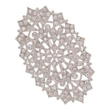 Broche aguja mantilla ovalado - Swarovski