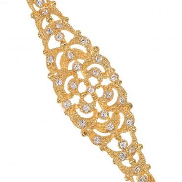 Broche aguja mantilla rombo elegante - Swarovski
