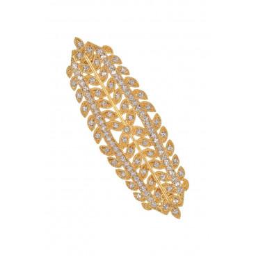 Broche aguja mantilla cien hojas - Swarovski