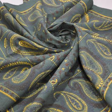 Pañuelo indiana motivos cachemire 120 x 120 cm