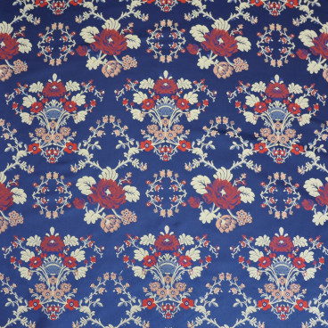 Corte tela trento flores fondo rojo o azul