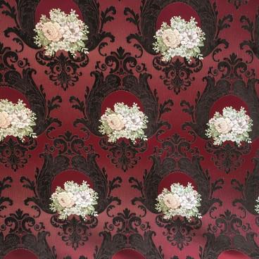 Corte Tela 6m Chenilla labrada y flores